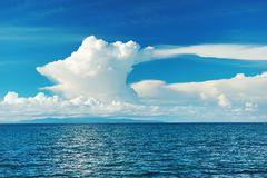 Cielo sobre el mar Foto de archivo libre de regalías