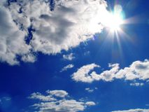 Cielo-sole-nubi Fotografia Stock