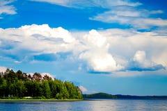 Cielo sopra il lago Fotografia Stock Libera da Diritti
