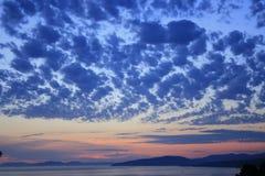 Cielo sopra il mare Fotografia Stock