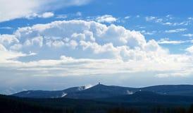 Cielo sopra il paesaggio Fotografia Stock