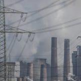 Cielo sopra la centrale elettrica, Germania Fotografie Stock Libere da Diritti