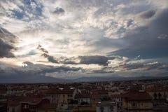 Cielo sopra la città Fotografia Stock