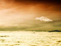 Cielo sopra le nuvole Fotografia Stock