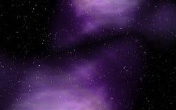 Cielo stellato con la nebulosa variopinta illustrazione di stock