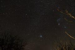 cielo stellato di notte Molte stelle fotografia stock