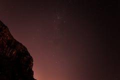 Cielo stellato sopra la testa del ` s del leone Immagine Stock Libera da Diritti