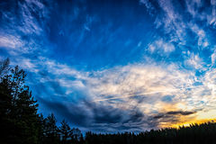 Cielo stupefacente di alba Fotografia Stock
