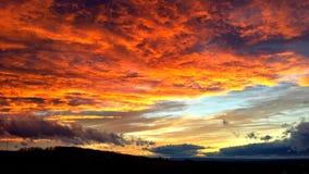 Cielo su fuoco Fotografie Stock
