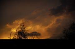 Cielo su fuoco Fotografie Stock Libere da Diritti