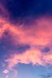 Cielo su penombra Fotografia Stock Libera da Diritti