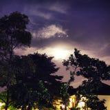 cielo a tarda notte porpora Fotografia Stock Libera da Diritti