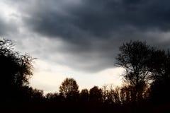 Cielo tempestuoso Imagen de archivo libre de regalías