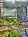 Cielo tempestuoso sobre la ciudad Fotografía de archivo libre de regalías