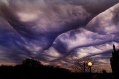 Cielo tempestuoso sobre Tejas imagenes de archivo