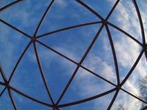 Cielo a través de la lente de fisheye Imagen de archivo