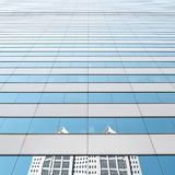 Cielo urbano nello specchio immagine stock libera da diritti