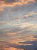 Cielo vago di tramonto Fotografia Stock