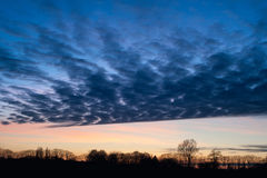 Cielo variopinto dal tramonto Fotografia Stock Libera da Diritti