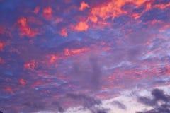 Cielo variopinto di sera Fotografia Stock