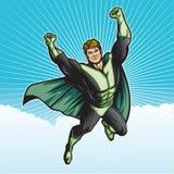 Cielo verde del héroe Imagen de archivo libre de regalías