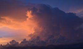 Cielo viola Fotografia Stock