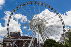 Cielo Viwe Ferris Wheel di Atlanta Immagine Stock Libera da Diritti