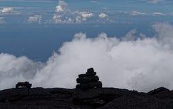 Cielo volcan di réunion del fournaise del chiodo da roccia fotografia stock libera da diritti