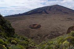 Cielo volcan di réunion del fournaise del chiodo da roccia fotografia stock