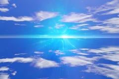 Cielo y agua ilustración del vector