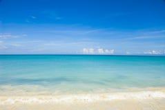 Cielo y agua del Caribe fotografía de archivo