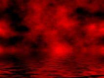 Cielo y agua rojos Imagenes de archivo