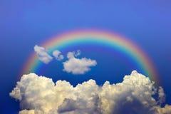 Cielo y arco iris fotografía de archivo libre de regalías