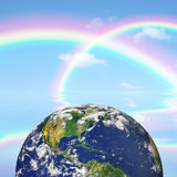 Cielo y belleza de la tierra Foto de archivo libre de regalías