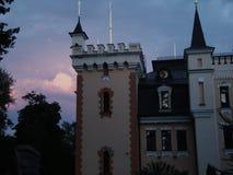 Cielo y castillo imagen de archivo libre de regalías
