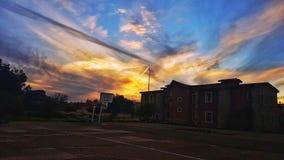 Cielo y edificio fotografía de archivo libre de regalías
