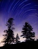Cielo y estrellas norteños foto de archivo