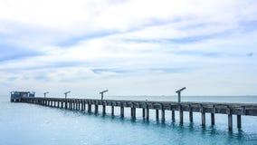 Cielo y mar, paisaje hermoso, Feliz Año Nuevo 2017 Foto de archivo