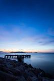 Cielo y mar, paisaje hermoso, Feliz Año Nuevo 2017 Fotos de archivo libres de regalías