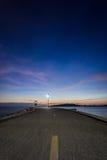 Cielo y mar, paisaje hermoso, Feliz Año Nuevo 2017 Imagen de archivo