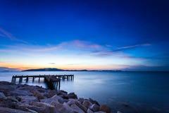 Cielo y mar, paisaje hermoso, Feliz Año Nuevo 2017 Imagenes de archivo