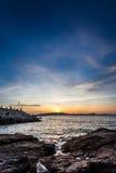 Cielo y mar, paisaje hermoso, Feliz Año Nuevo 2017 Imágenes de archivo libres de regalías