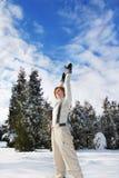 Cielo y nieve fotografía de archivo