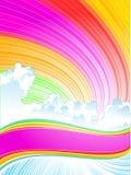 Cielo y nube del color Fotografía de archivo