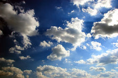 Cielo y nubes Fotos de archivo