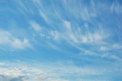 Cielo y nubes Foto de archivo