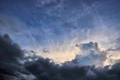Cielo y nubes como fondo, la Florida del sur Fotos de archivo