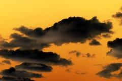 Cielo y nubes de la puesta del sol Fotografía de archivo