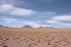 Cielo y nubes en el desierto de Silol Fotos de archivo libres de regalías
