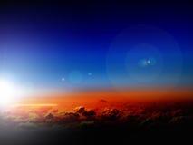 Cielo y nubes en salida del sol fotografía de archivo